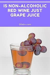 is non-alcoholic red wine just grape juice ?