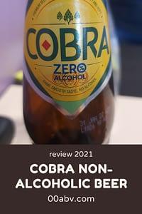 Cobra non-alcoholic beer
