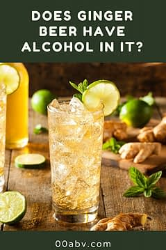 does ginger beer have alcohol in it?