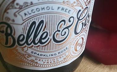 Belle & Co Alcohol Free Rose Sparkling Wine